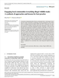 Engaging local communities in tackling illegal wildlife trade: a synthesis of approaches and lessons for best practice